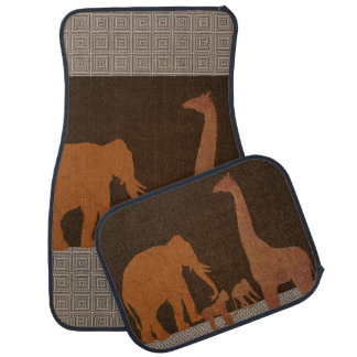 Brown Safari Jungle Zoo Animals Car Mat