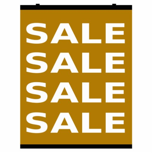 Brown Sale Sign Cut Outs
