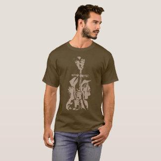 "Brown ""Salvation"" Stamped Shirt"