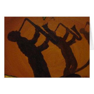 Brown Saxiphone Art Jazz Card