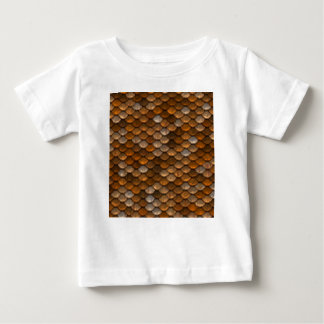 Brown scales pattern baby T-Shirt