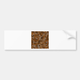 Brown scales pattern bumper sticker