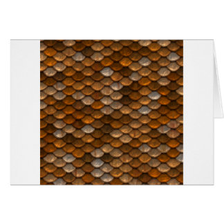 Brown scales pattern card