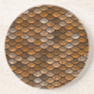 Brown scales pattern coaster