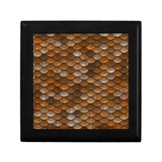 Brown scales pattern gift box