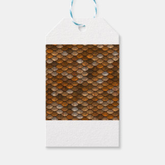 Brown scales pattern gift tags