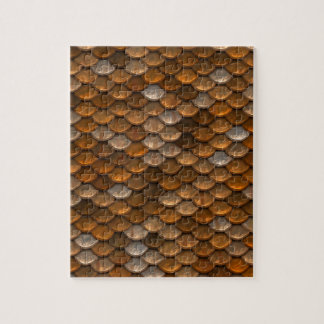 Brown scales pattern jigsaw puzzle