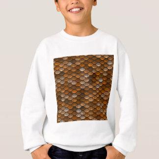 Brown scales pattern sweatshirt