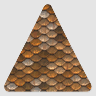 Brown scales pattern triangle sticker