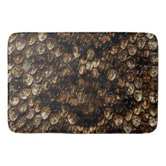 Brown Scaly Snakeskin Large Memory Foam Bath Mat