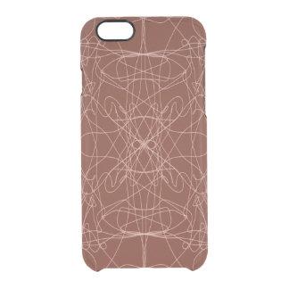 Brown scrambler clear iPhone 6/6S case