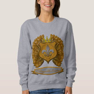 Brown shield, crown and wings Sweatshirt