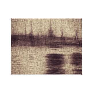 "Brown Sketch 14"" x 11"", 1.5"", Single Canvas Print"