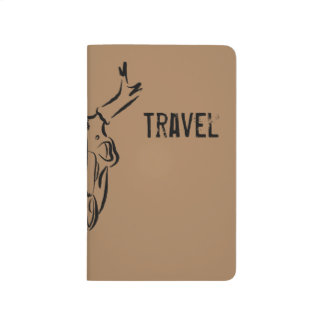 Brown Skull Travel Journal