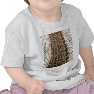 Brown Skyscraper Texture Tee Shirts