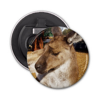 Brown Sleepy Kangaroo, Magnetic Bottle Opener. Bottle Opener