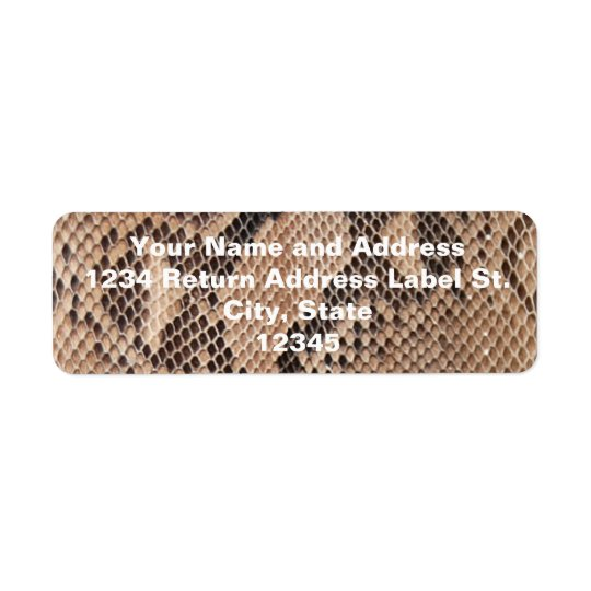 Brown Snakeskin Look Return Address Label