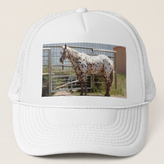 Brown spotted Appaloosa horse Trucker Hat