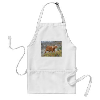 Brown spotted goat aprons