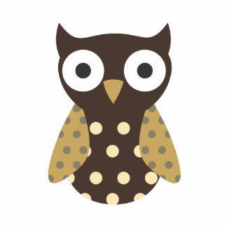 Brown Spotted Owl Photo Cut Outs