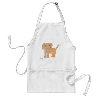 Brown Spotted Puppy Dog Adult Apron