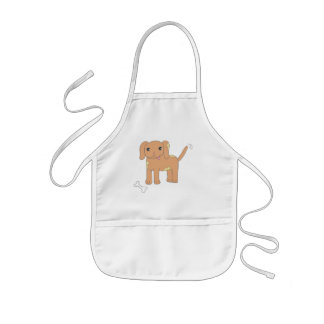Brown Spotted Puppy Dog Kids Apron
