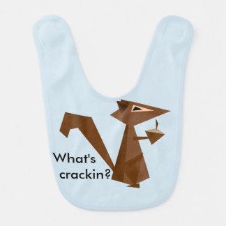 Brown Squirrel What's Crackin? Bibs