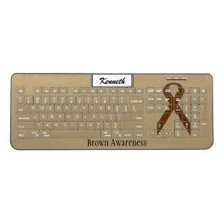 Brown Standard Ribbon by Kenneth Yoncich Wireless Keyboard