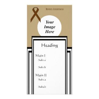 Brown Standard Ribbon Template Custom Photo Card