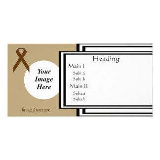 Brown Standard Ribbon Template Photo Card Template