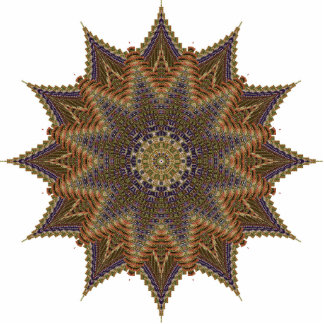 Brown Star Pin Photo Sculpture Badge