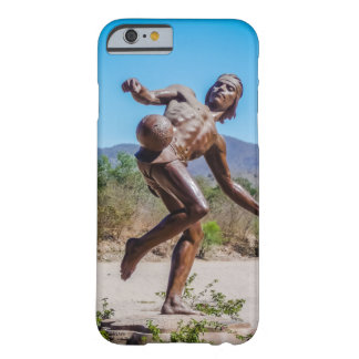 Brown Statue of Man kicking Futbol in Mexico Barely There iPhone 6 Case