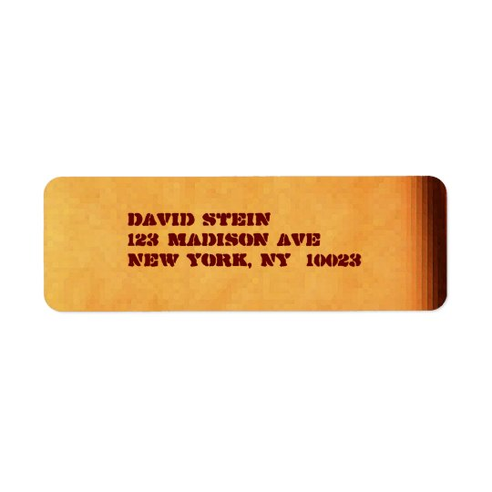Brown / Stencil accent address labels
