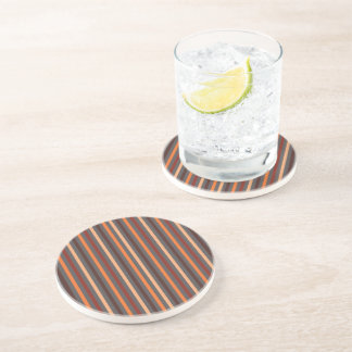 Brown Striped Drinking Coaster - 15 Stripes 1B