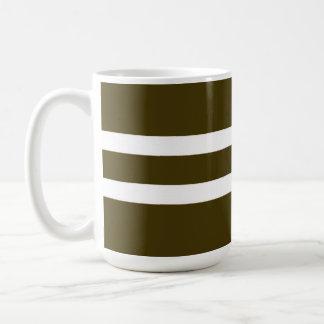 Brown Striped Mug