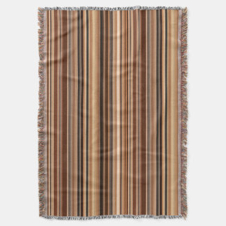 Brown Striped Pattern Throw Blanket