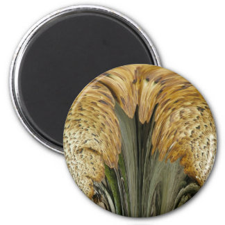 Brown Striped Shelf Fungus Coordinating Items 6 Cm Round Magnet