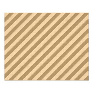 Brown Stripes. Flyer Design