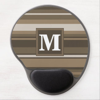 Brown stripes gel mouse pad