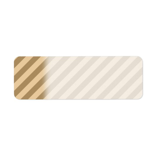 Brown Stripes. Return Address Label