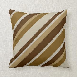 """Brown Stripes Throw Pillow 16"""" x 16"""" Cushions"""