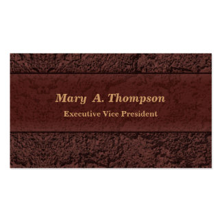 Brown Stucco Texture Pack Of Standard Business Cards