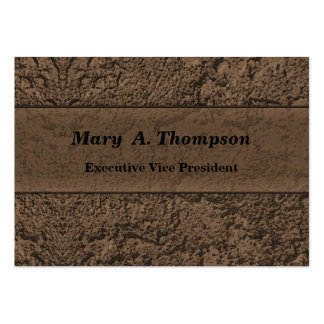 Brown Stucco Texture Pack Of Chubby Business Cards