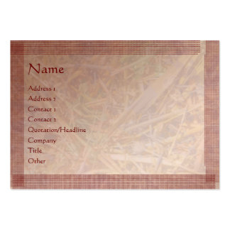 Brown Stylish Border n Silver Hay Scattered Business Card Template