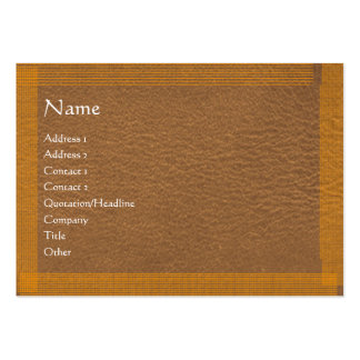 Brown Stylish Border n Surface Pack Of Chubby Business Cards