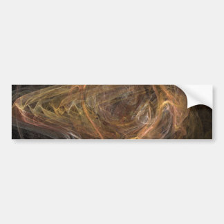 Brown Sublime Abstract Design Bumper Sticker