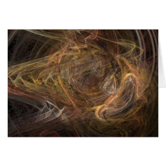 Brown Sublime Abstract Design Card