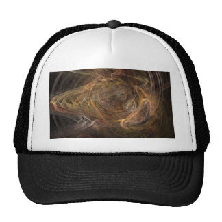 Brown Sublime Abstract Design Mesh Hats