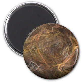 Brown Sublime Abstract Design Refrigerator Magnet