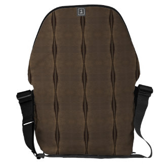 Brown suede Leather look Messenger Bags